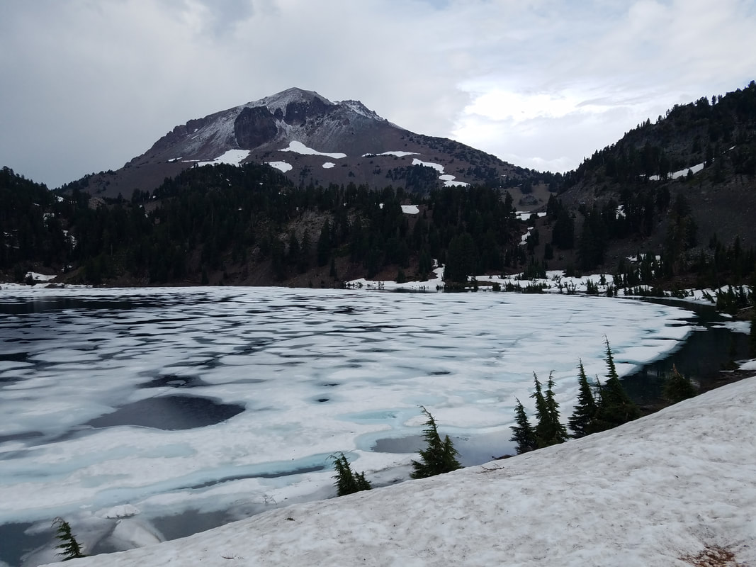 Frozen Lake at Lassen